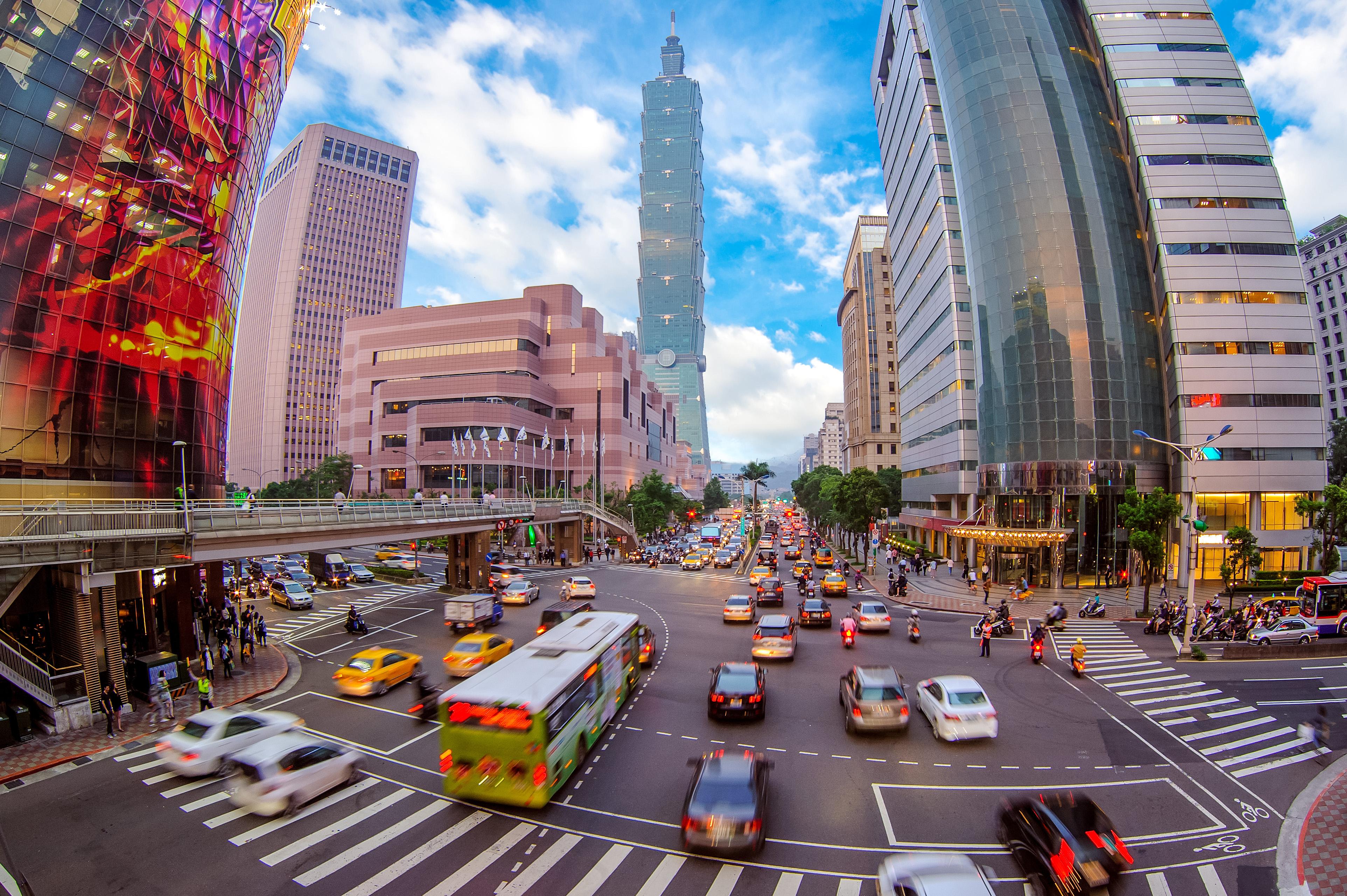 Downtown Taipei.