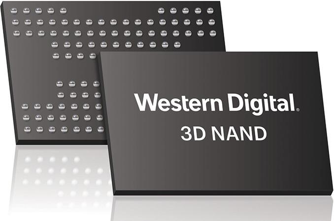 Western Digital 3D NAND memory chips.