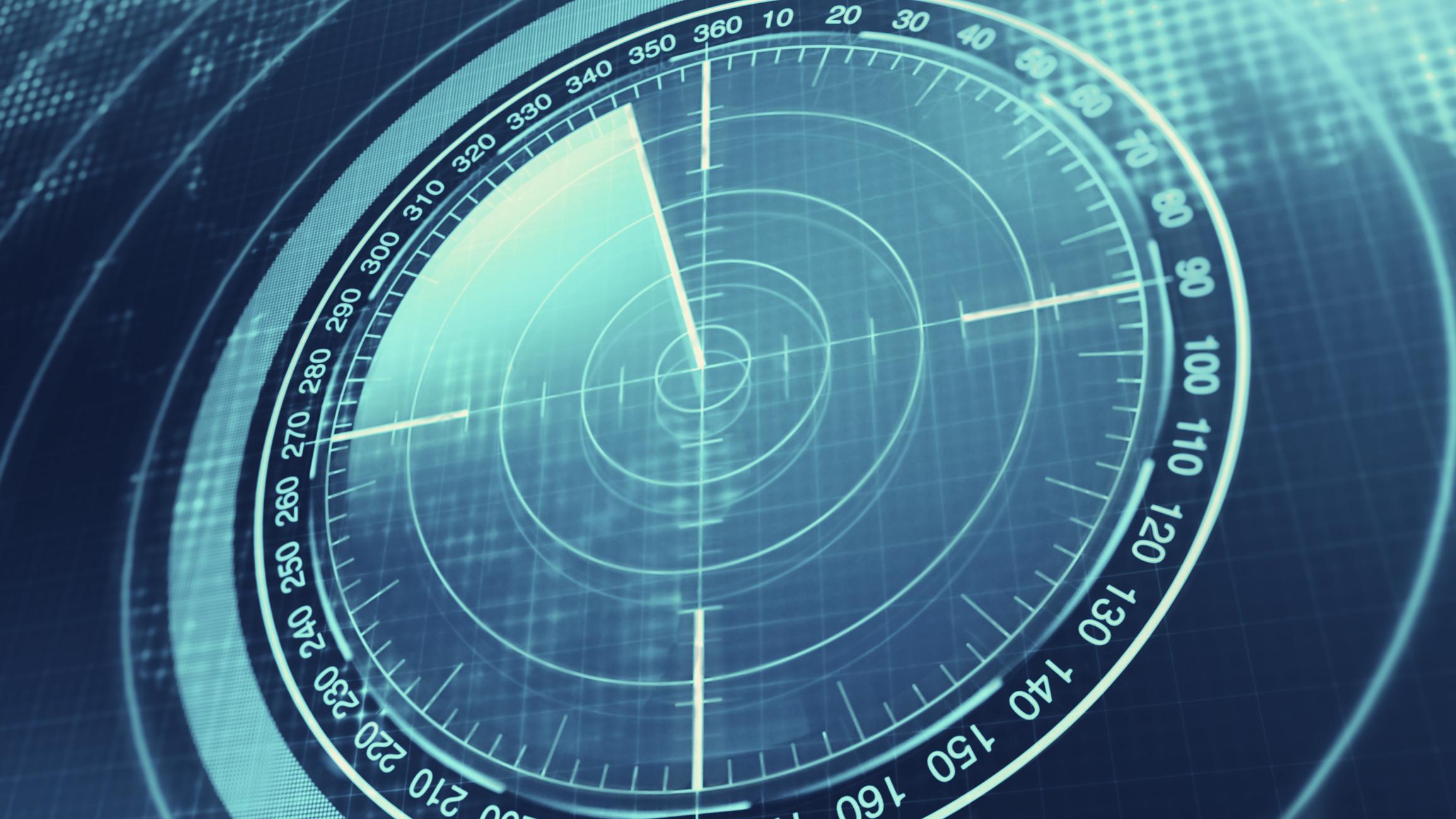 A radar screen