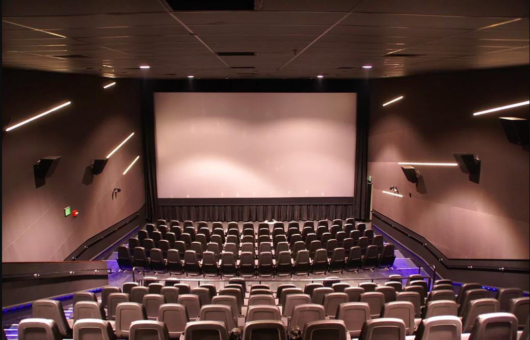 Interior of a Landmark Theatres screen.
