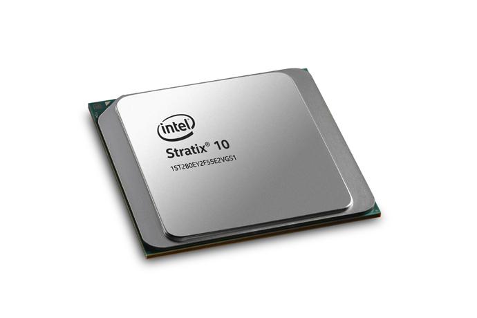 An Intel Stratix 10 FPGA.