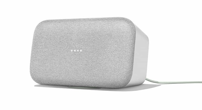 The Google Home smart speaker.
