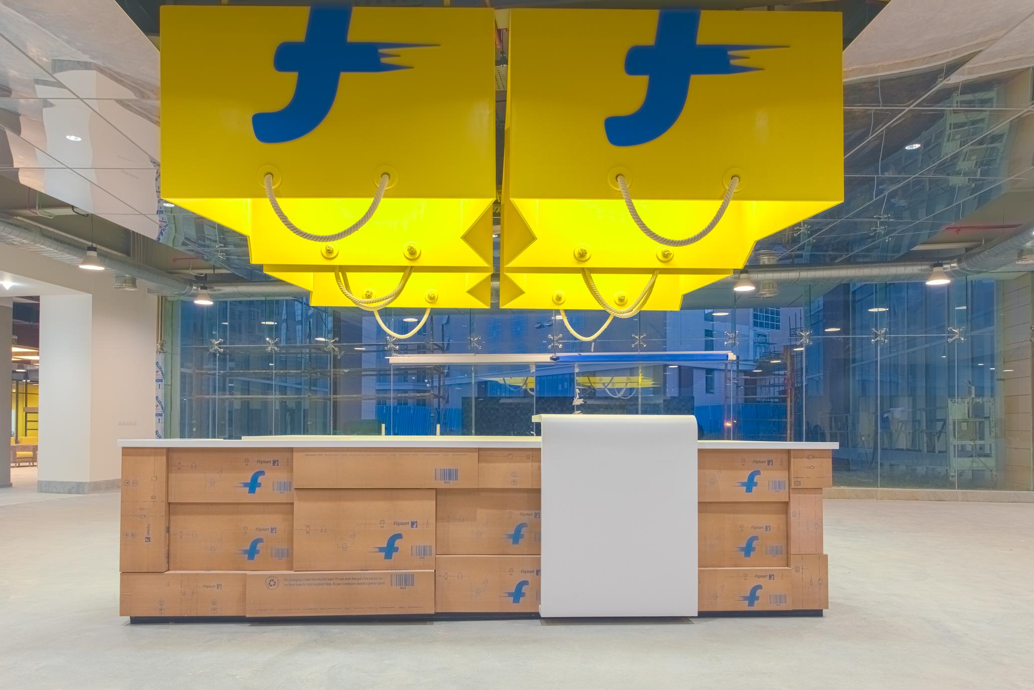 The lobby of Flipkart's offices.