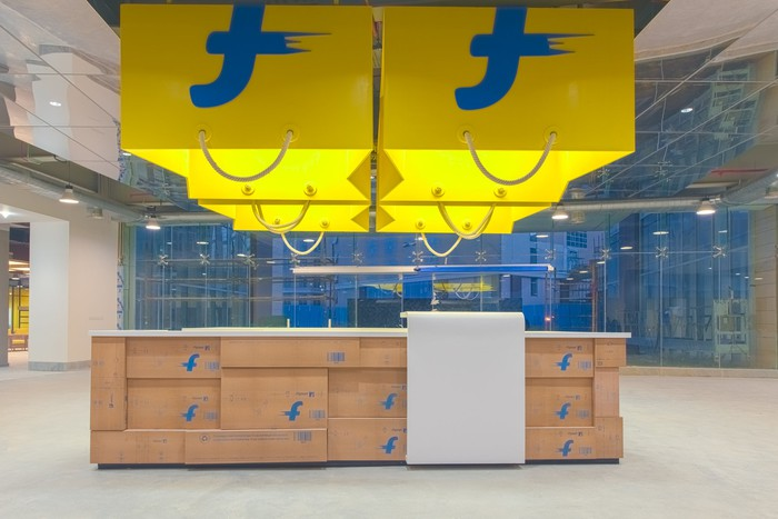 The lobby of Flipkart's offices.