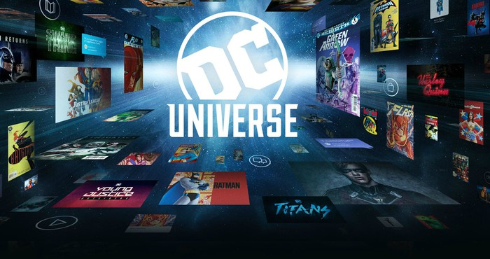 A promotional graphic for DC Universe