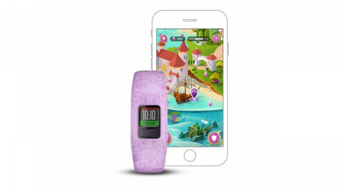 Disney Princess fitness tracker and mobile app by Garmin and Disney.
