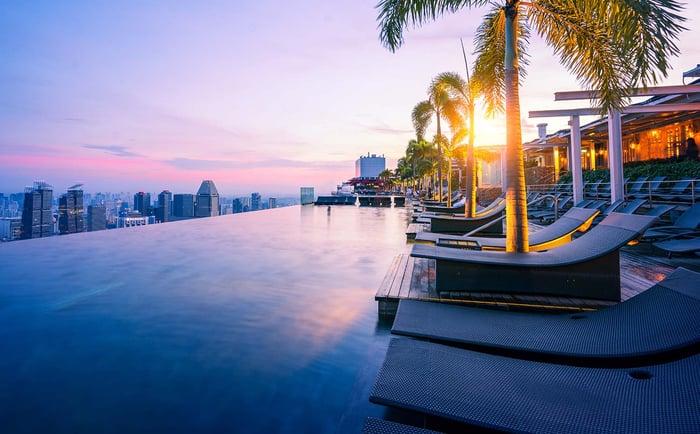 The Infinity Pool at Marina Bay Sands.