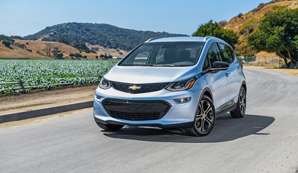 GM ONLY Silver Chevy Bolt EV on Road