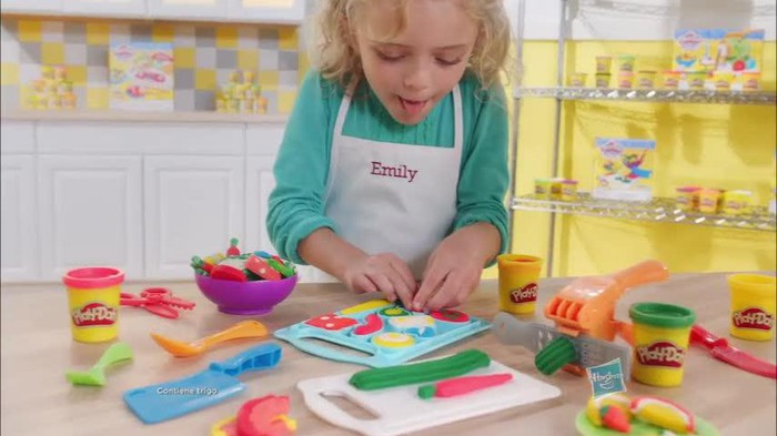 Girl playing with Play-Doh