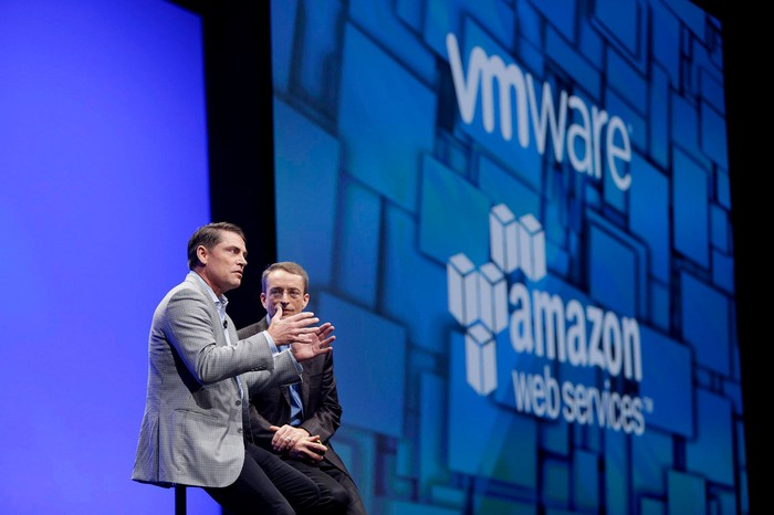 Executives presenting at VMworld