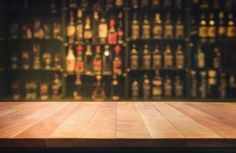 A blurry bar.