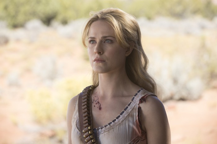Evan Rachel Wood as Dolores Abernathy in HBO's Westworld