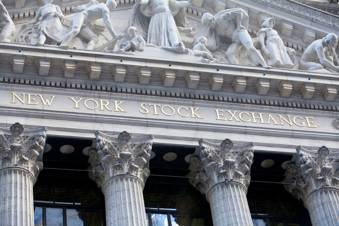 Front of the New York Stock Exchange.