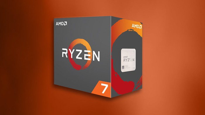 A boxed AMD Ryzen 7 CPU.