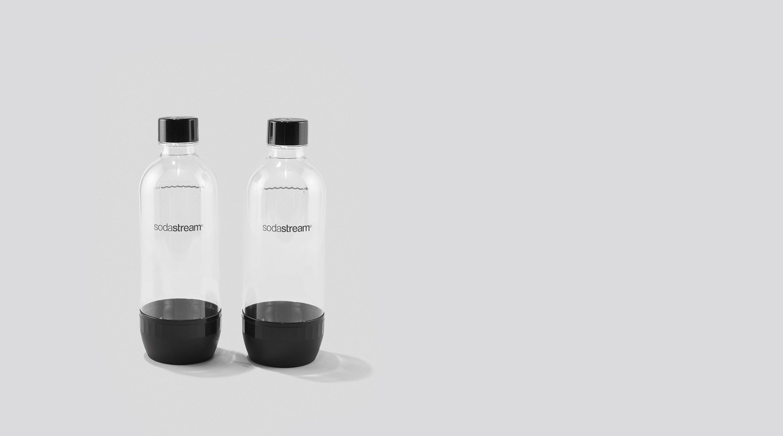 Two SodaStream bottles.
