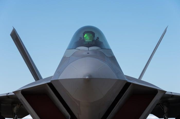 Fighter jet cockpit.
