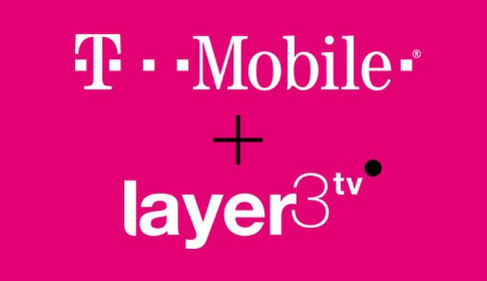 T-Mobile and Layer3 TV logos on a magenta background.
