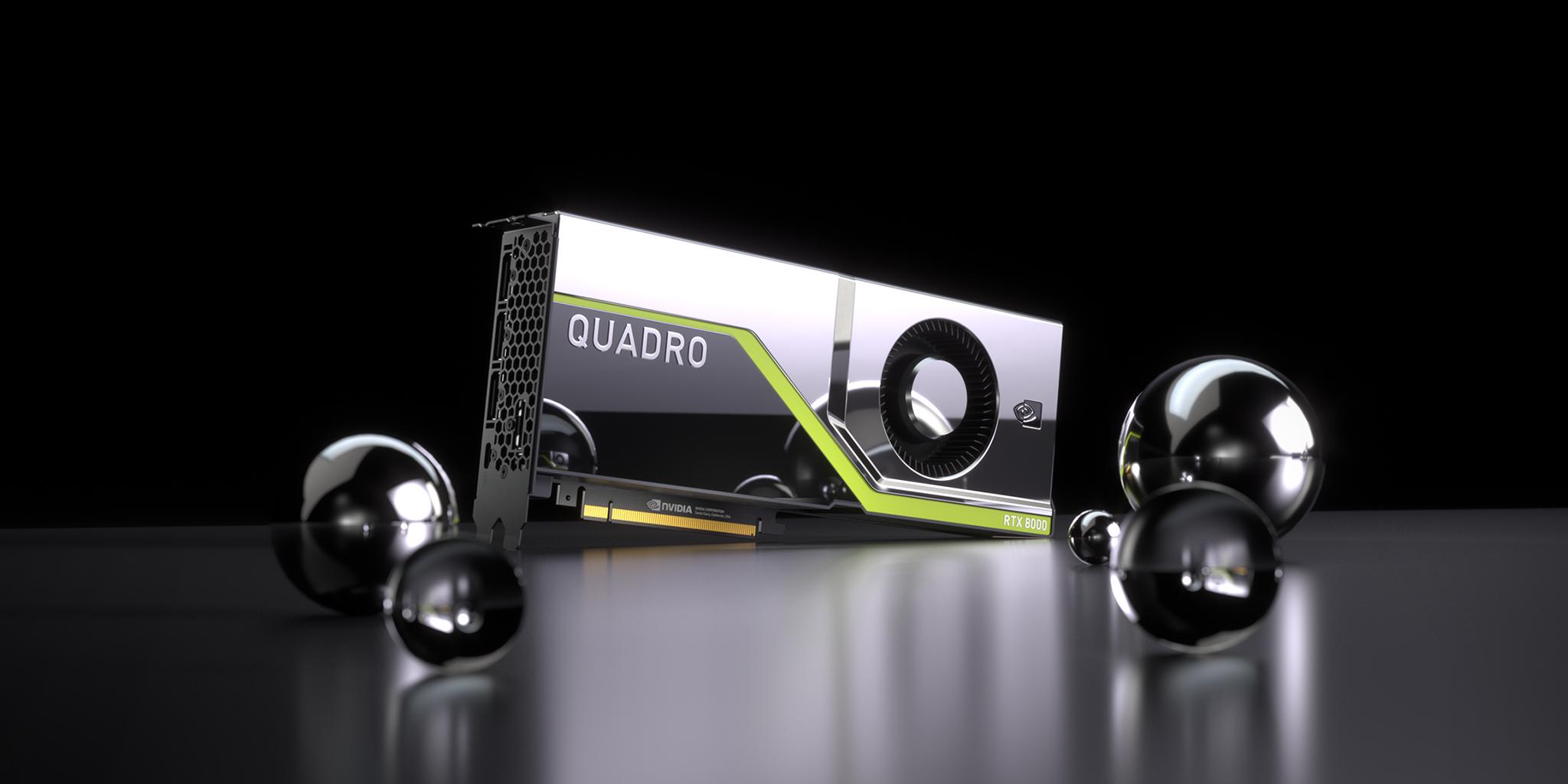 NVIDIA Quadro RTX 8000 ray tracing chip.