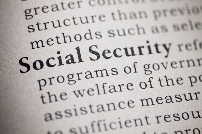 "Closeup of a dictionary page, defining the words ""Social Security"""