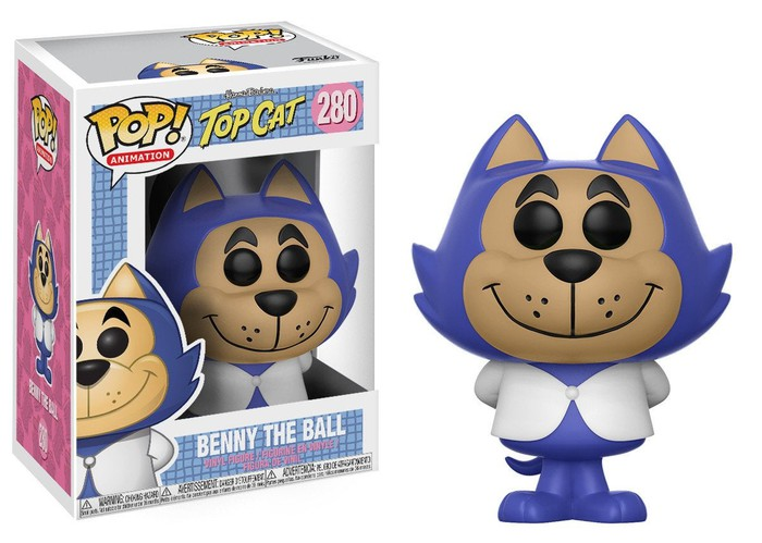 A purple Pop! figurine of the Top Cat character from the Hanna-Barbera series