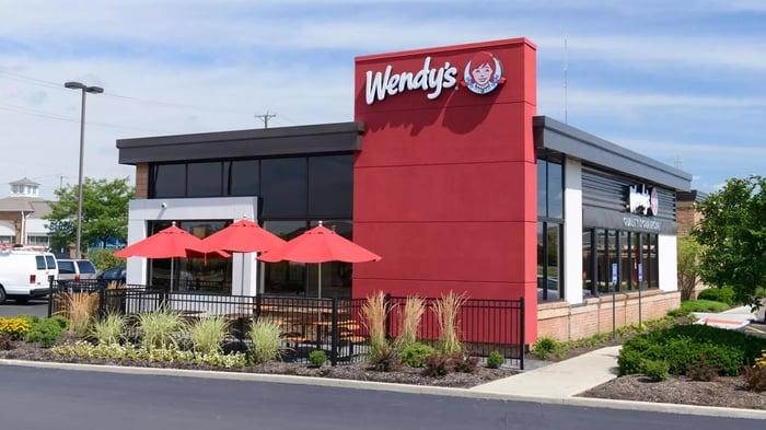 Wendy's restaurant exterior.