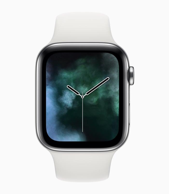 Apple Watch Series 4 with Vapor watchface