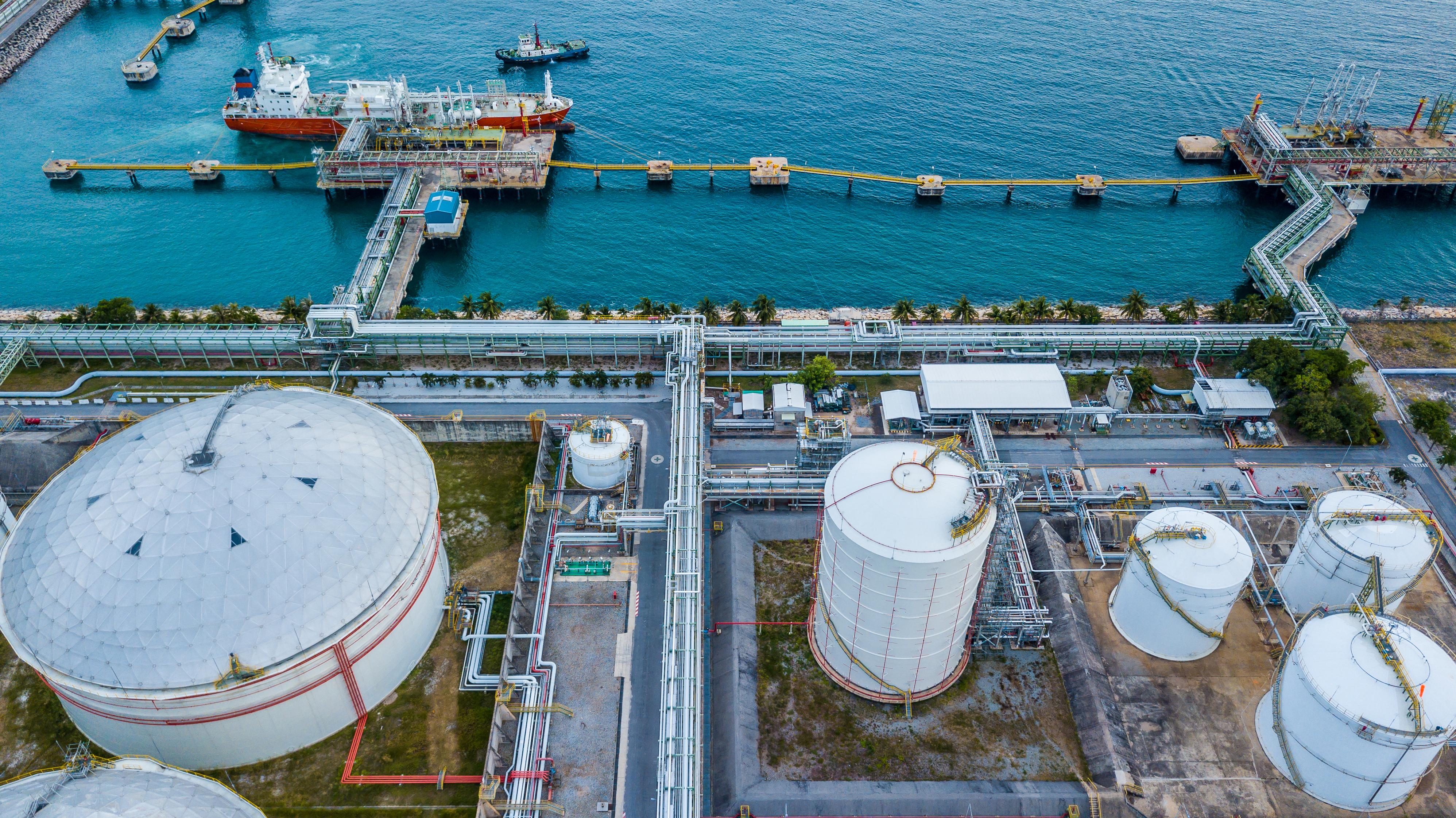 An LNG export terminal.