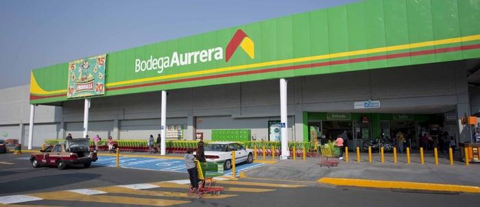 Walmart's Bodega Aurrera banner in Mexico.