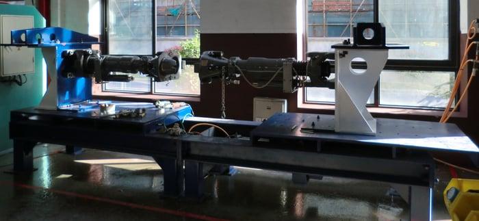Air brake coupler overhaul in a workshop.