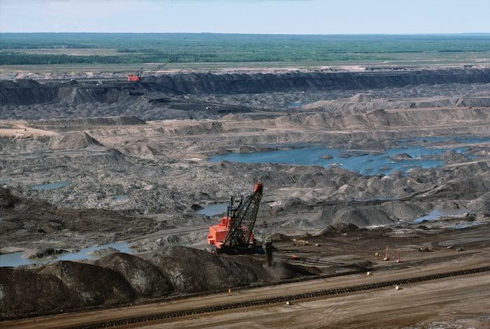 Oil sands mining.