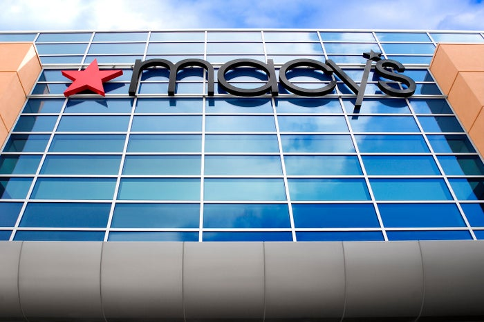 A Macy's storefront