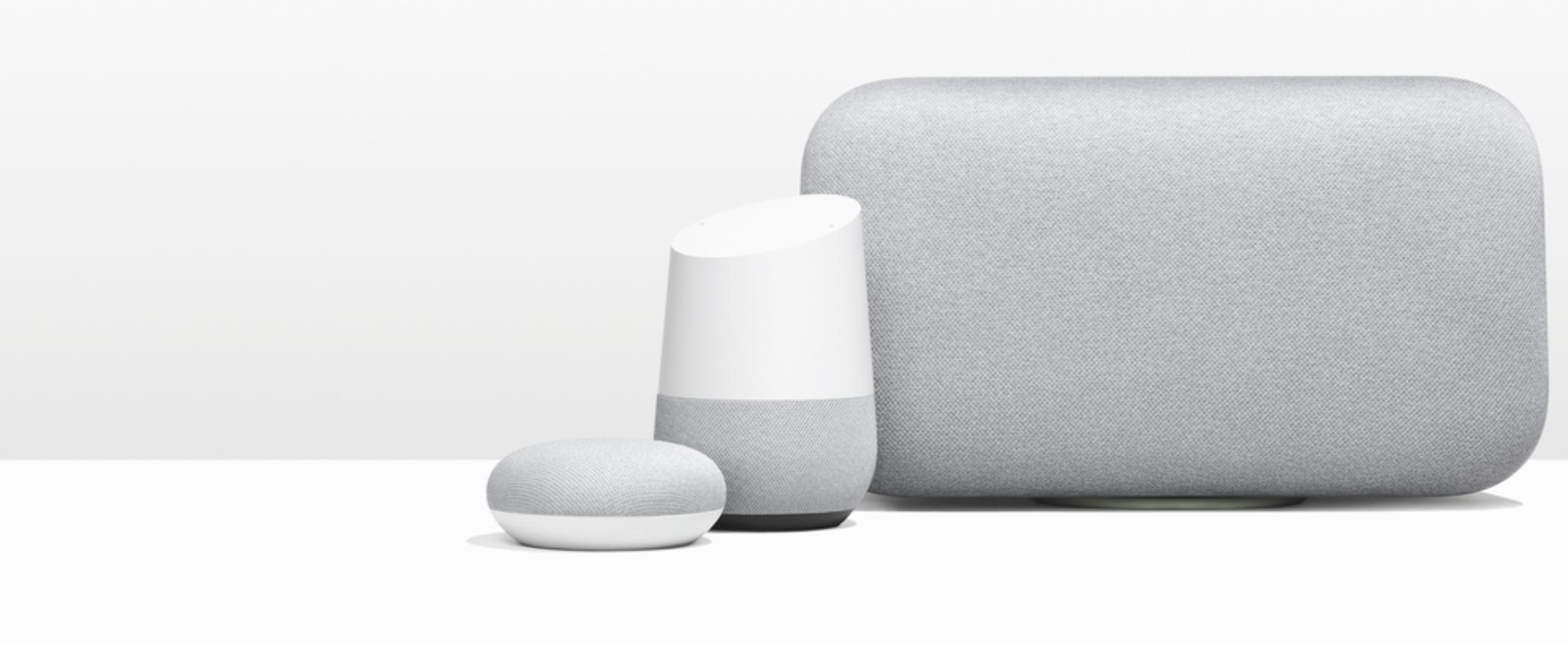 Google Home family of smart speakers