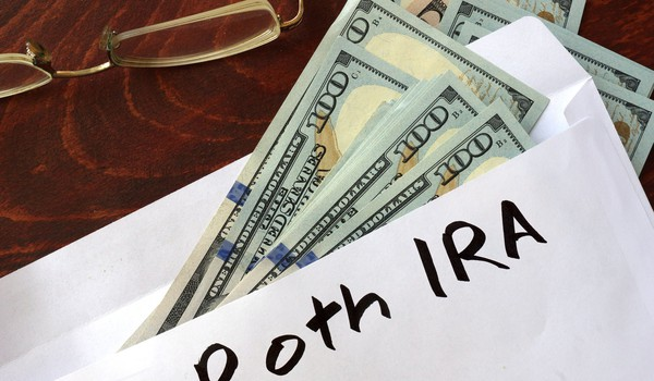 Roth IRA and dollar bills