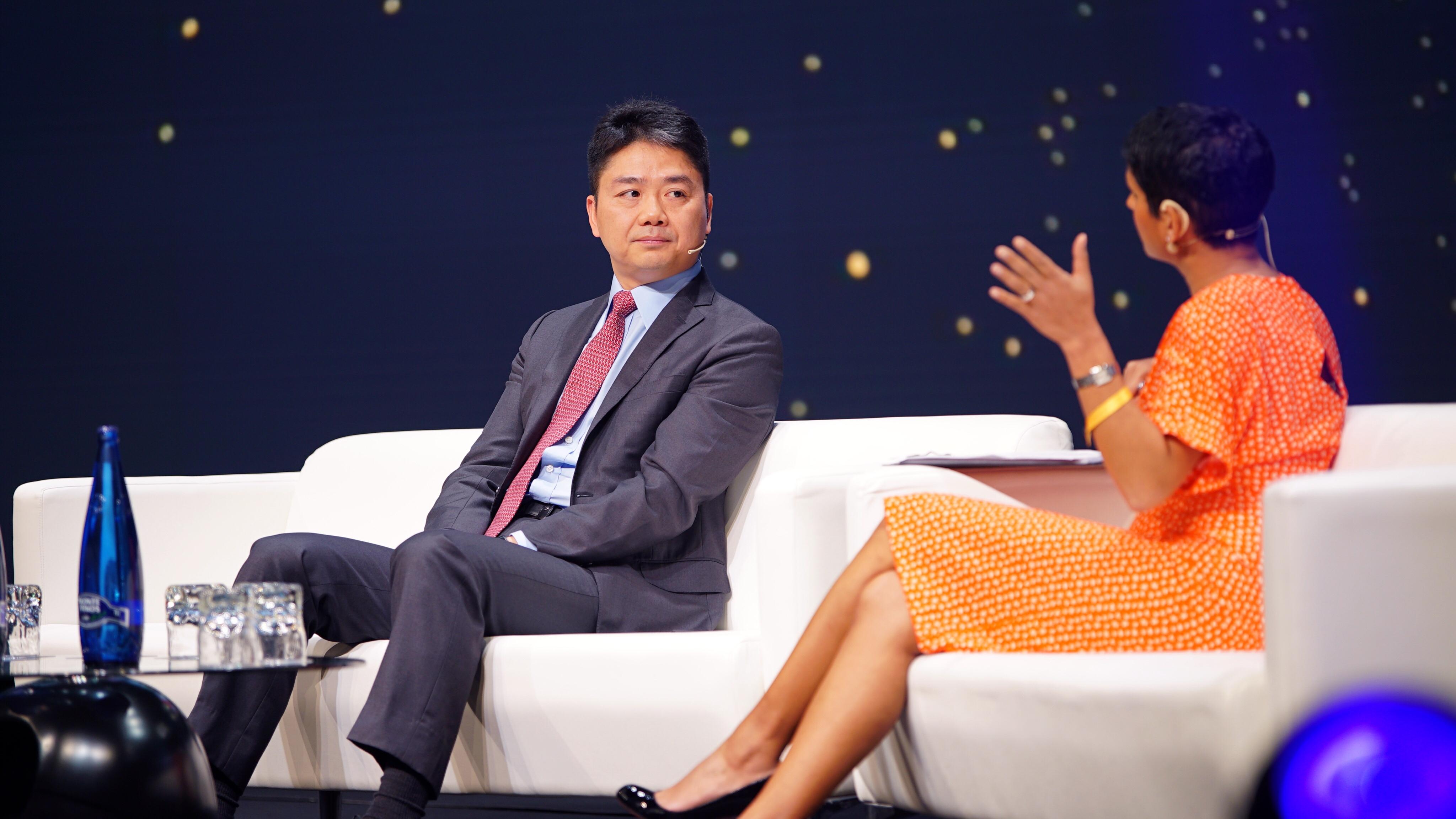 JD.com CEO Richard Liu at World Retail Congress in Madrid.