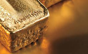Large gold bar with Barrick imprint.