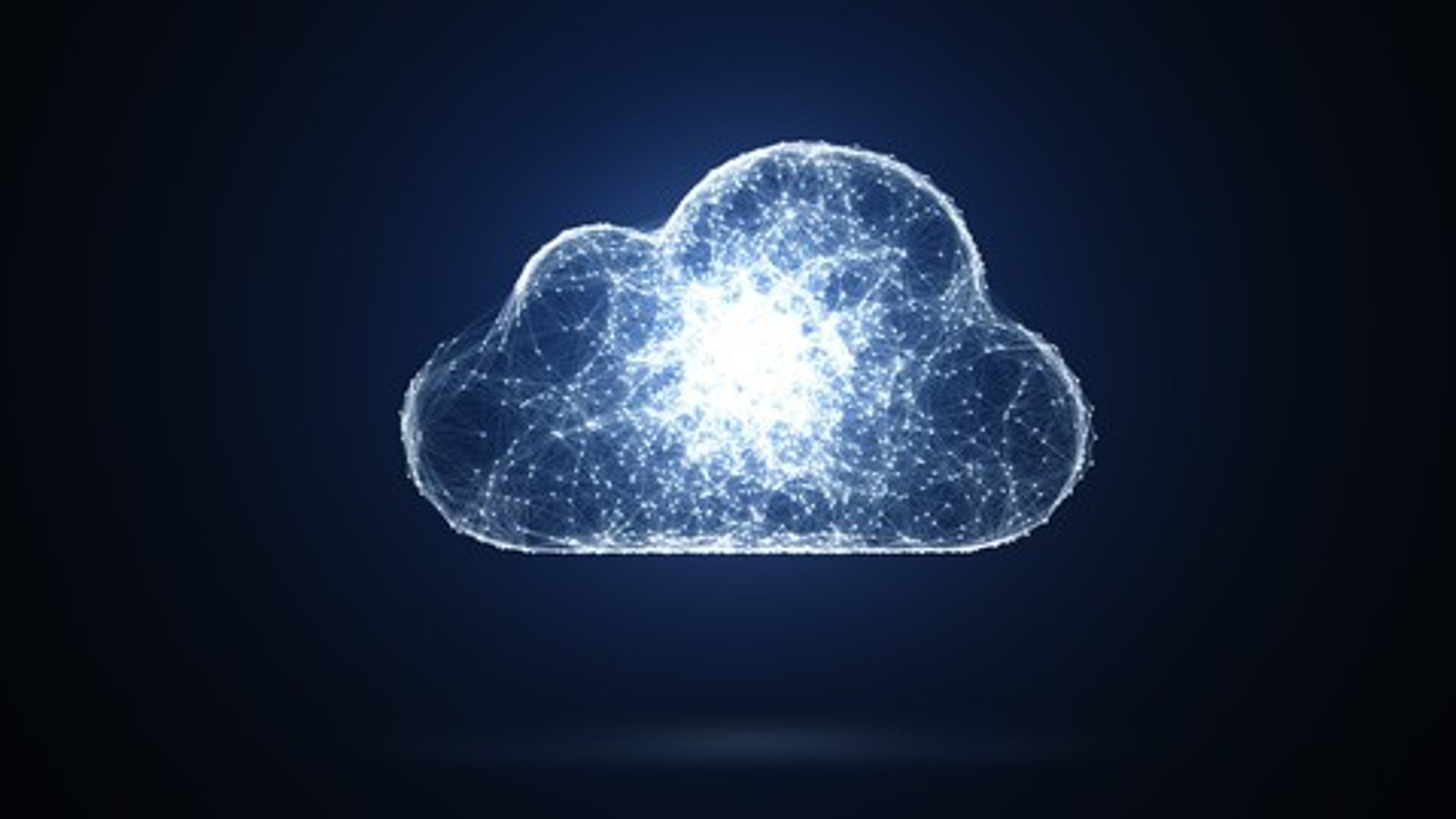 Cloud computing blue background