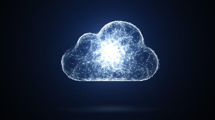 A digital representation of a cloud.