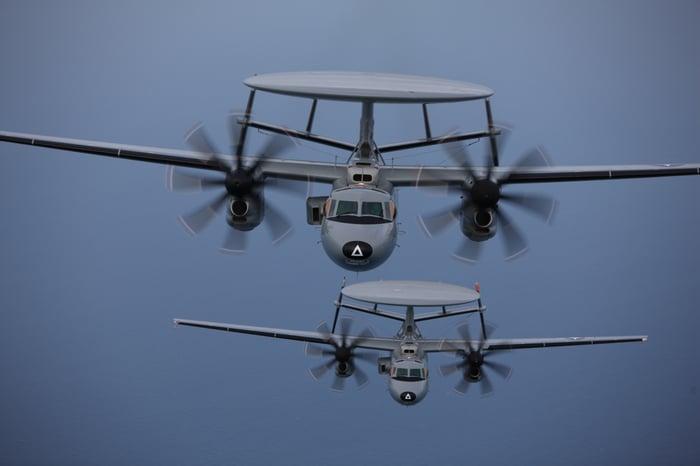 E-2D Advanced Hawkeye aircraft in flight