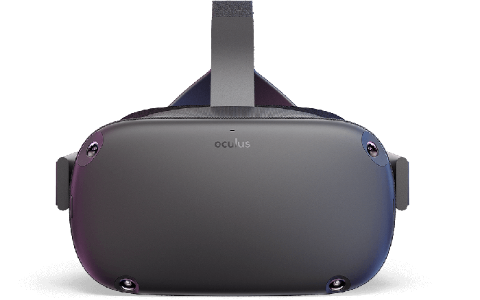 Oculus Quest front view.