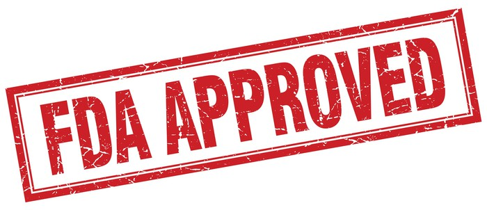 """FDA approved"" stamp."