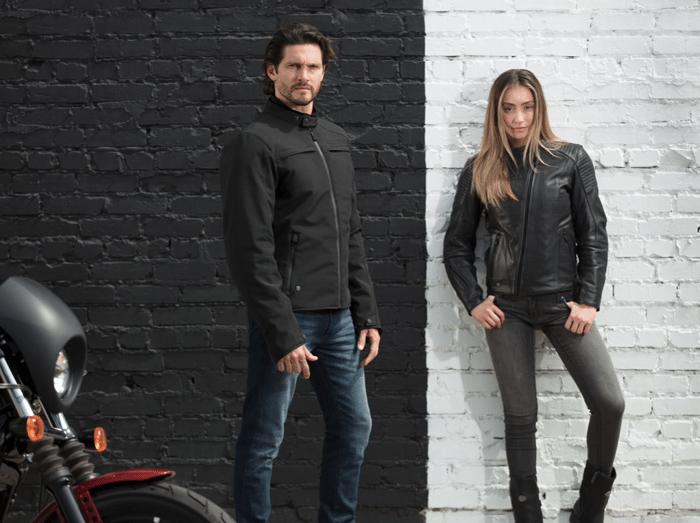 Man and woman wearing Harley-Davidson apparel