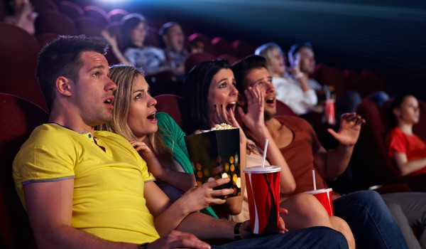 movies theater scared scray horror getty