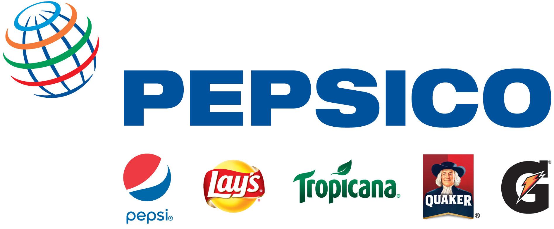 PepsiCo brand logos on white background.