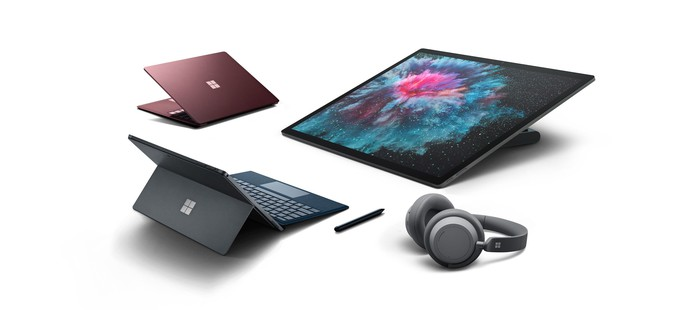 New Surface products collected around each other