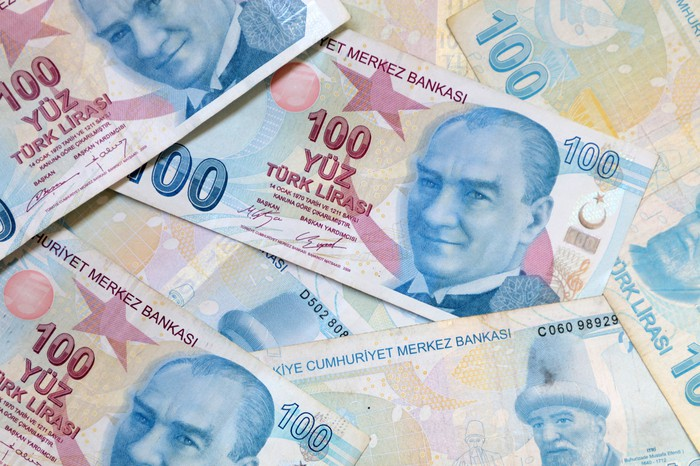 Turkish lira notes.