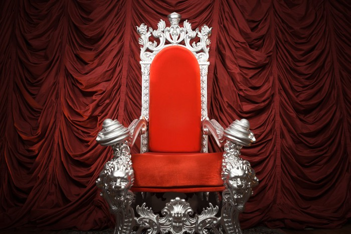 Red and silver throne