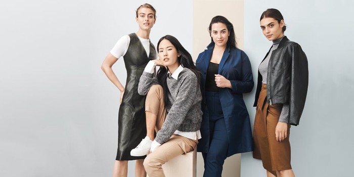 Models wearing Prologue, a Target private label.