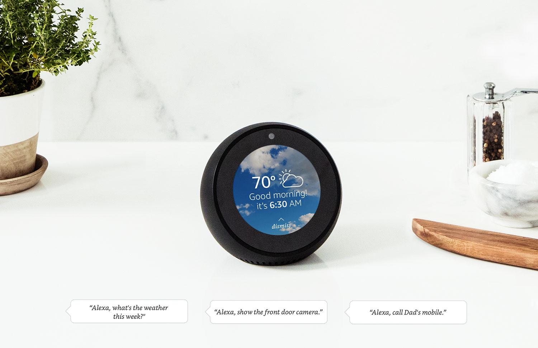 Amazon's Echo Spot.