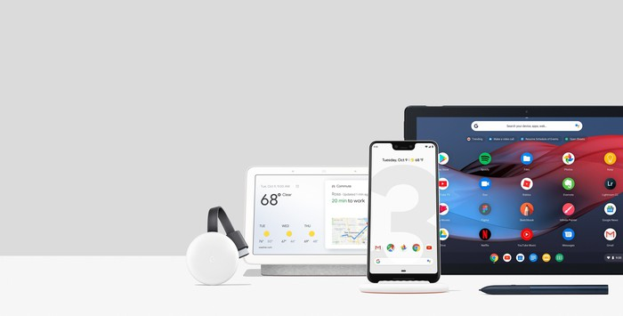 Collection of new hardware from Google