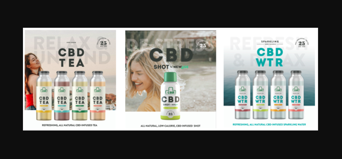 New Age Beverages' new CBD-infused product line.